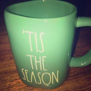 "Rae Dunn ""Tis The Season"" Coffee Mug Green Xmas"